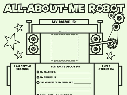 small resolution of All About Me Robot: Fill-in Poster   Worksheets \u0026 Printables   Scholastic    Parents
