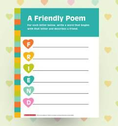 Create a Friendship Poem Printable   Scholastic   Parents [ 908 x 1210 Pixel ]
