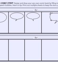 create a comic strip printable template worksheets printables scholastic parents [ 1500 x 1125 Pixel ]