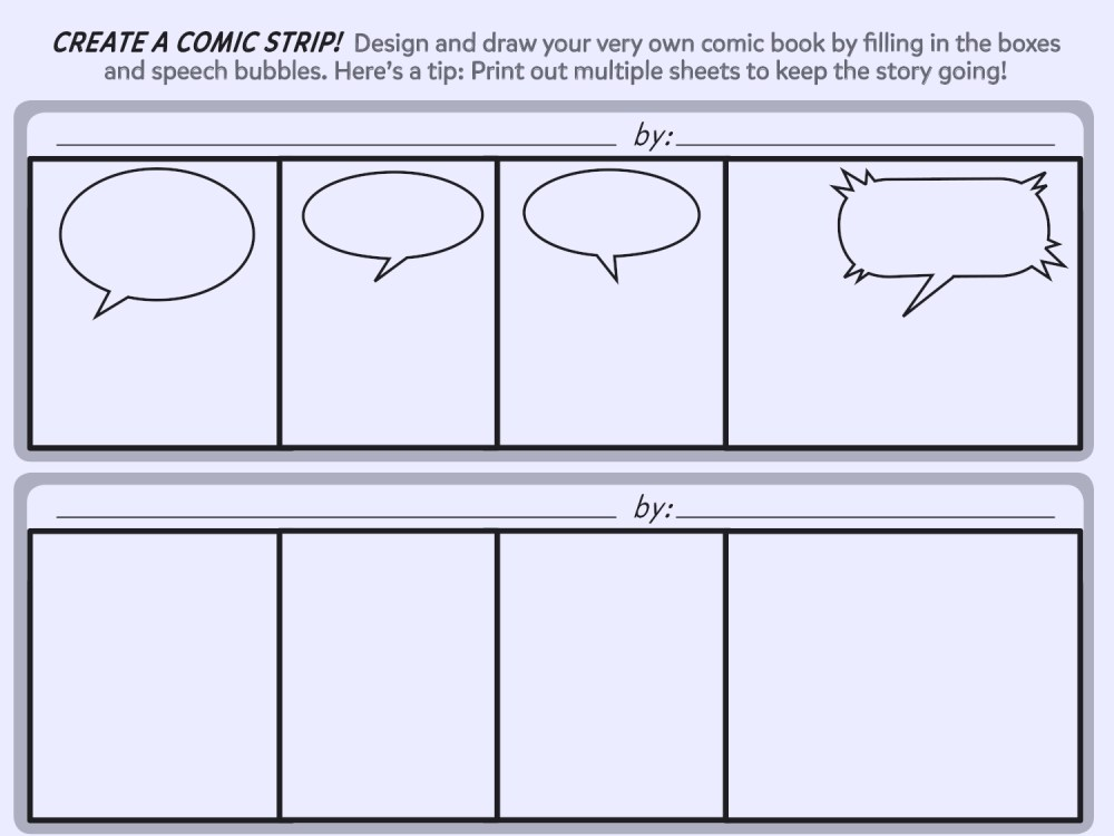 medium resolution of create a comic strip printable template worksheets printables scholastic parents