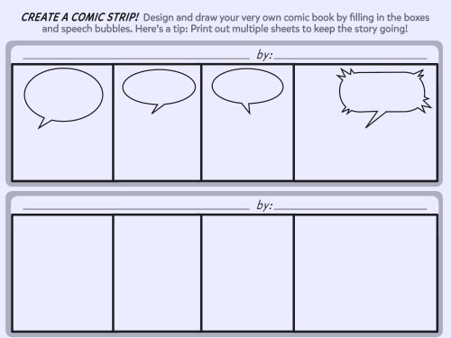 small resolution of create a comic strip printable template worksheets printables scholastic parents