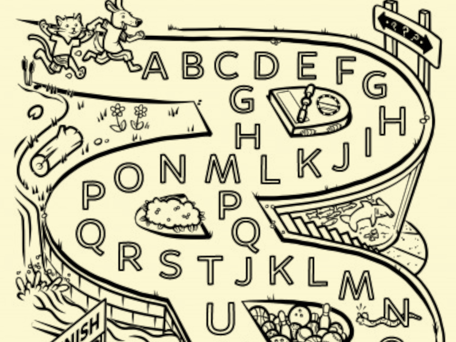 Alphabet Mazes Abc Ideas Preschool Alphabet Lettering