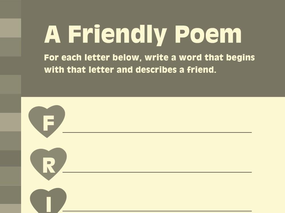 medium resolution of Write Friendship-Inspired Poetry   Worksheets \u0026 Printables   Scholastic    Parents