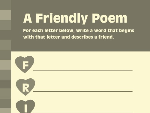 small resolution of Write Friendship-Inspired Poetry   Worksheets \u0026 Printables   Scholastic    Parents