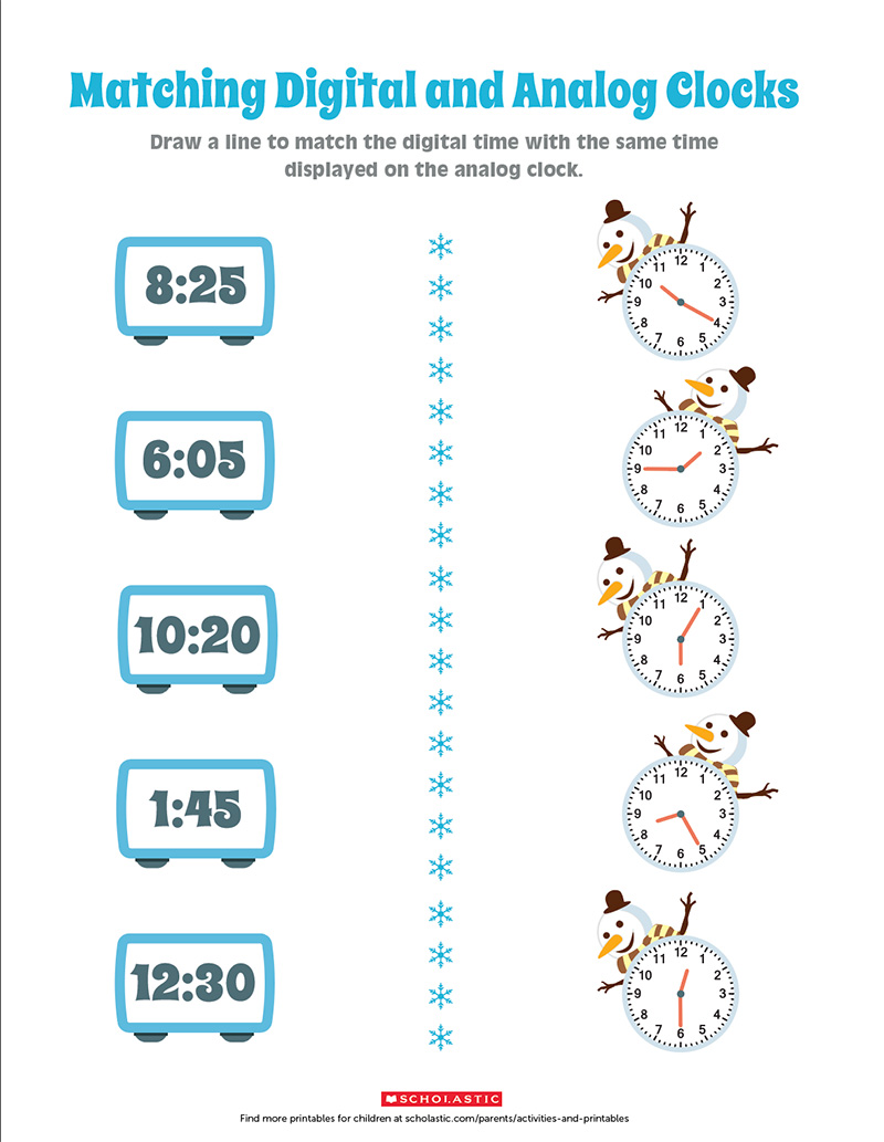 hight resolution of Practice Telling Analog and Digital Time With This Printable   Scholastic    Parents