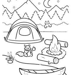 Campfire Coloring Activity   Worksheets \u0026 Printables   Scholastic   Parents [ 1610 x 1168 Pixel ]