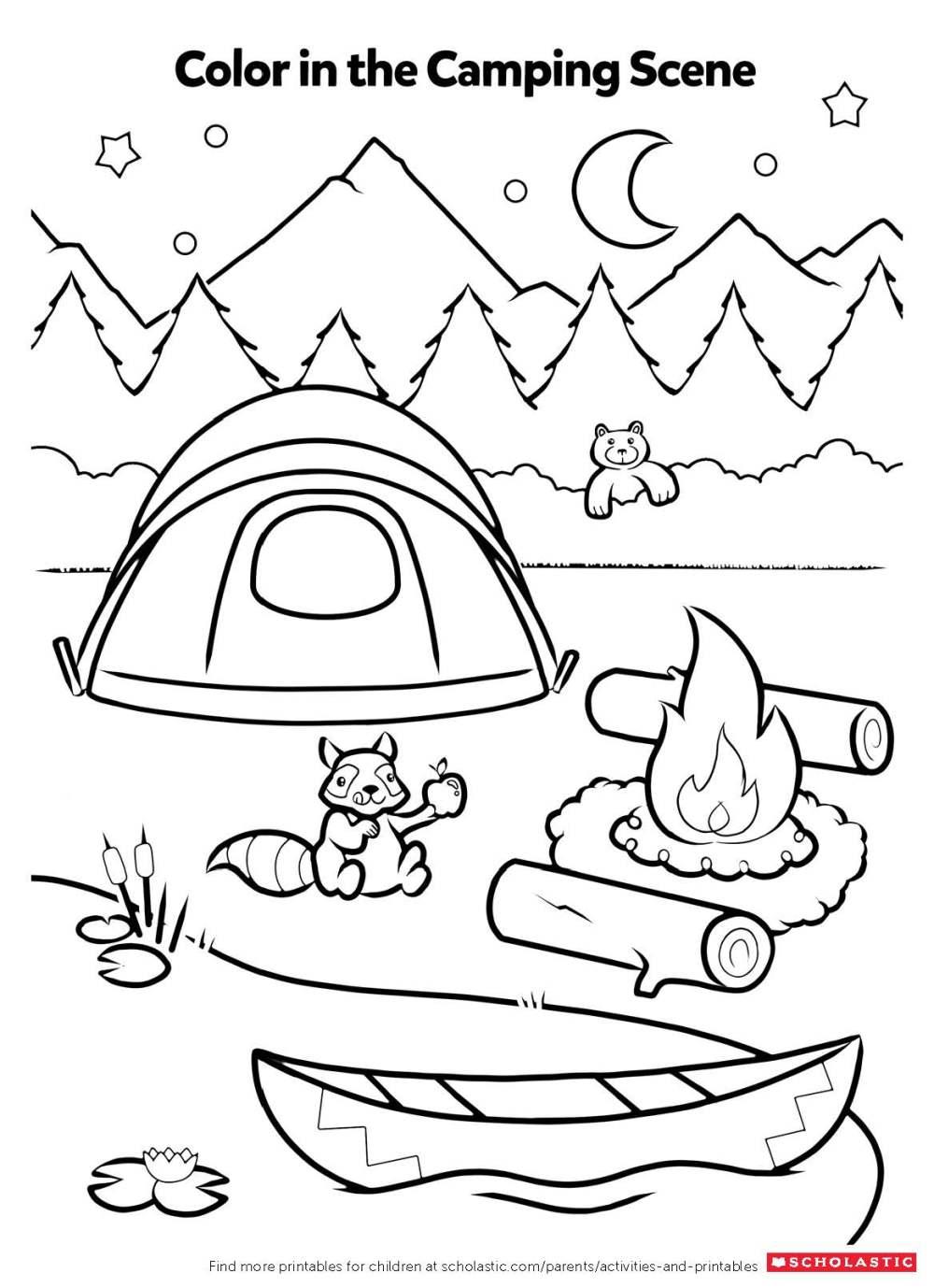 medium resolution of Campfire Coloring Activity   Worksheets \u0026 Printables   Scholastic   Parents