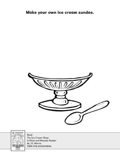 Make Your Own Ice Cream Sundae Drawing Activity