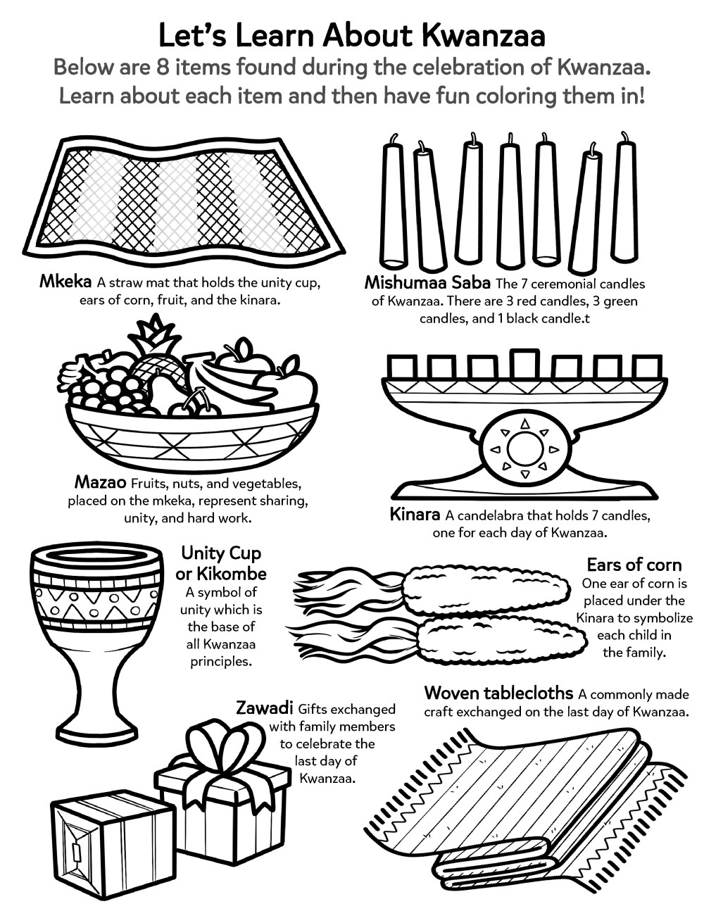medium resolution of Learn About the Kwanzaa Holiday   Worksheets \u0026 Printables   Scholastic    Parents