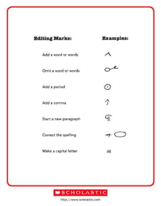 Editing marks also worksheets  printables scholastic parents rh