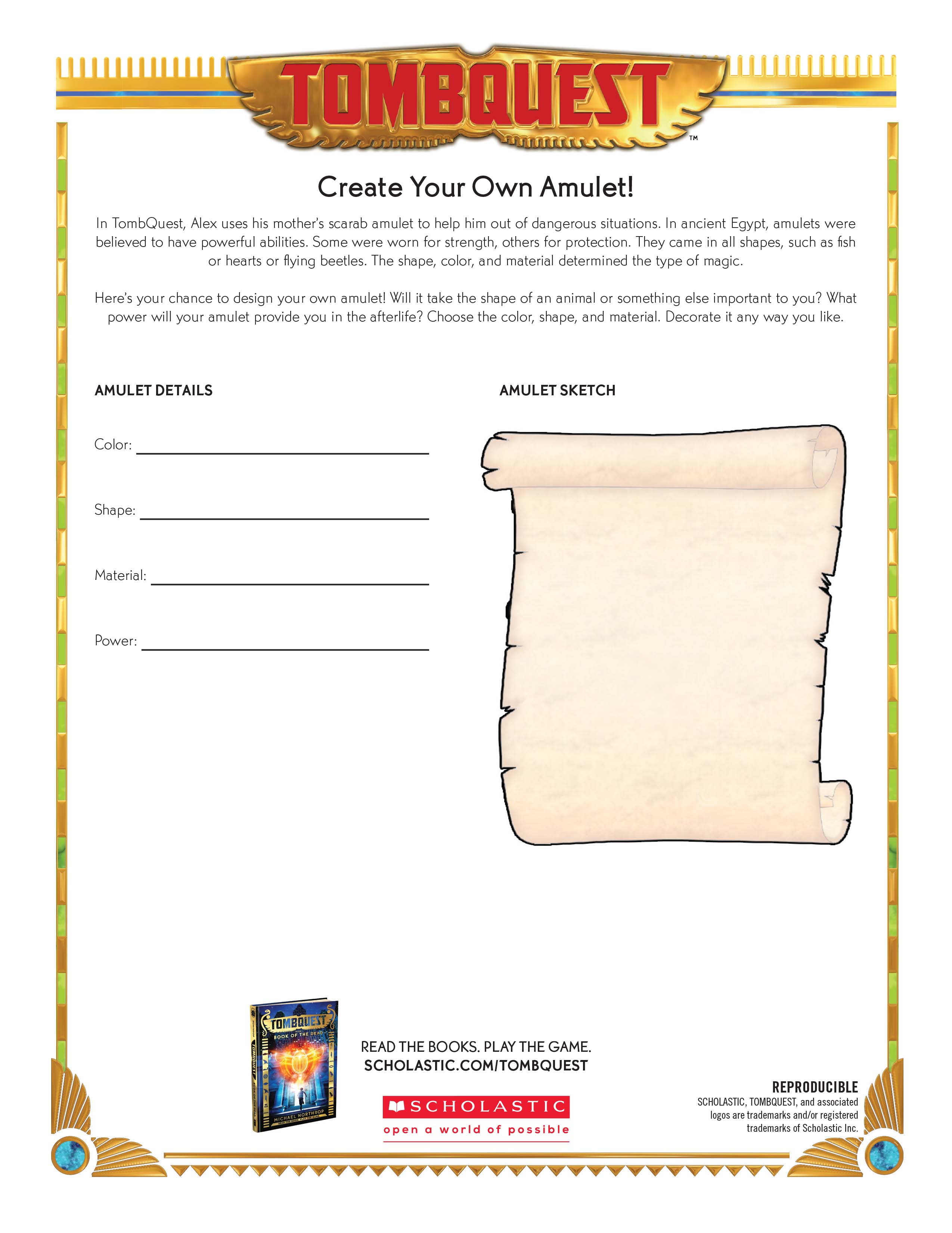 Tombquest Fast Fact Worksheets