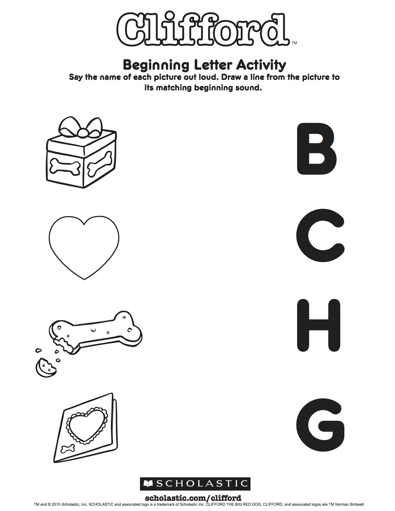 Clifford S Beginning Letter Sound Activity