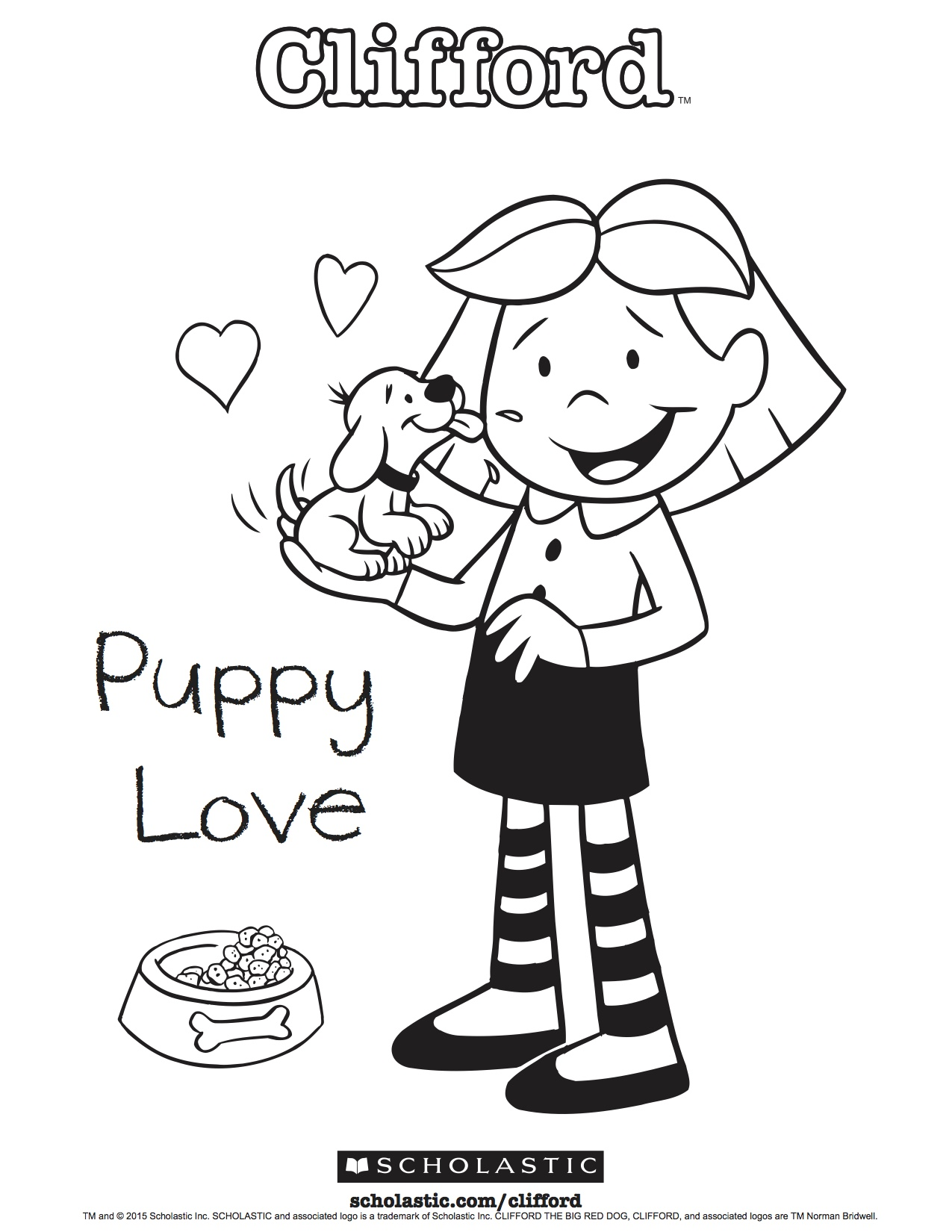 Clifford S Puppy Love Coloring Sheet