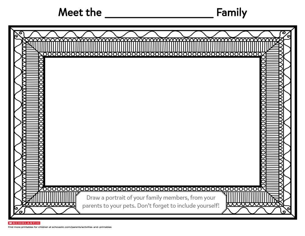 medium resolution of Draw Your Family Portrait   Worksheets \u0026 Printables   Scholastic   Parents