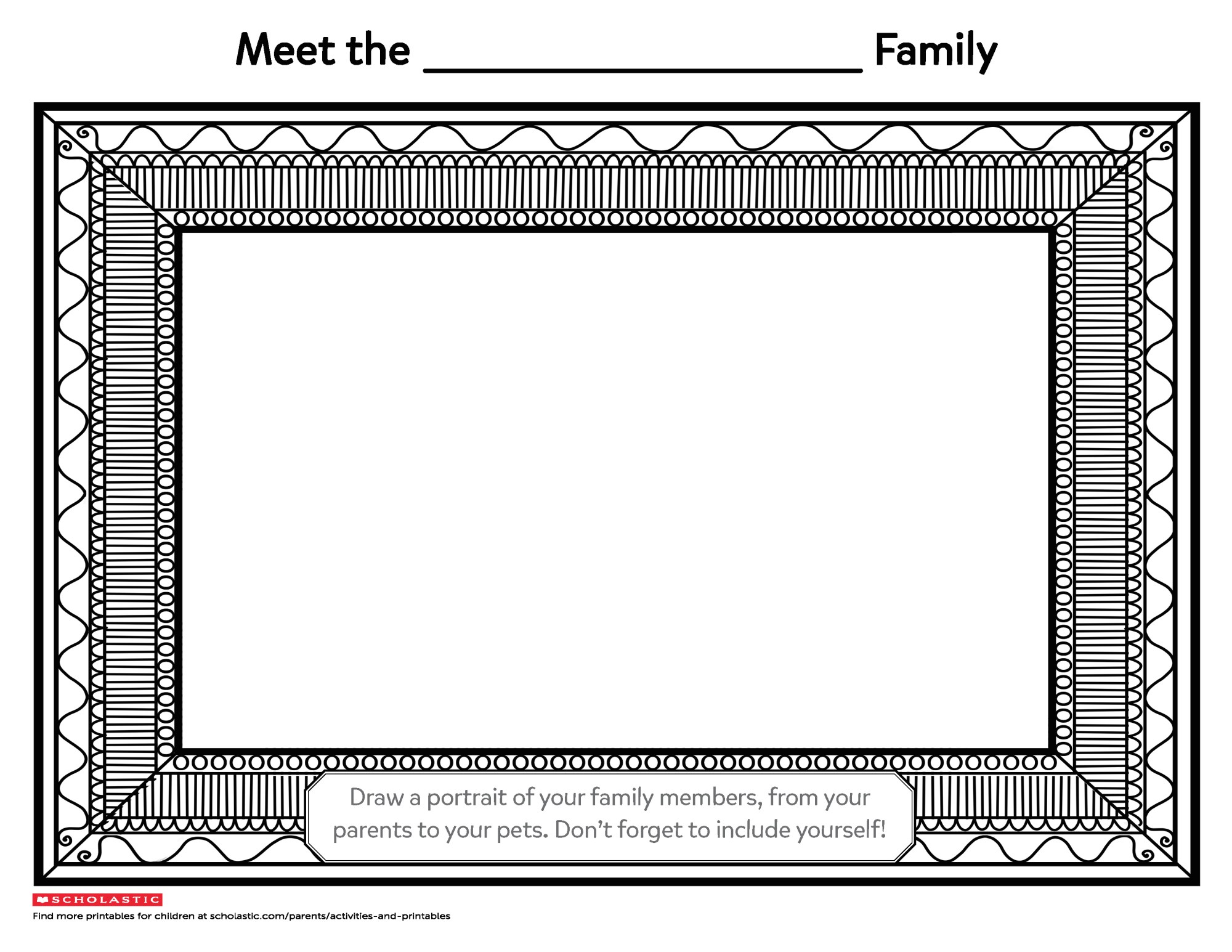 hight resolution of Draw Your Family Portrait   Worksheets \u0026 Printables   Scholastic   Parents