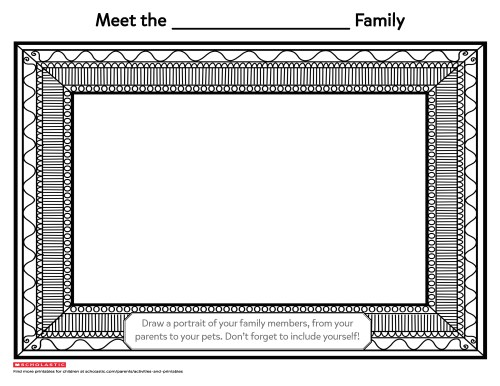 small resolution of Draw Your Family Portrait   Worksheets \u0026 Printables   Scholastic   Parents