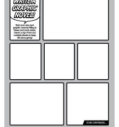 Create Your Own Graphic Novel Template   Worksheets \u0026 Printables    Scholastic   Parents [ 3300 x 2550 Pixel ]