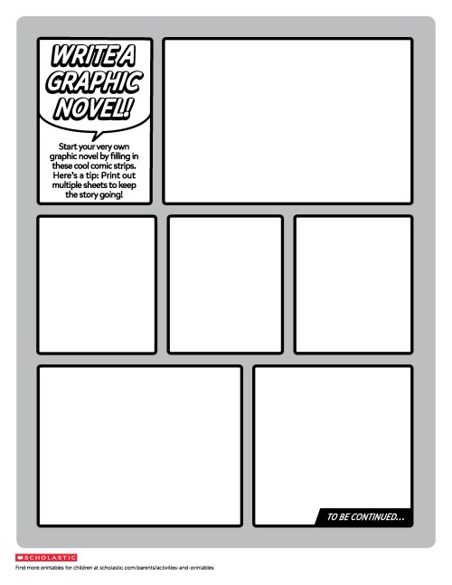 small resolution of Create Your Own Graphic Novel Template   Worksheets \u0026 Printables    Scholastic   Parents