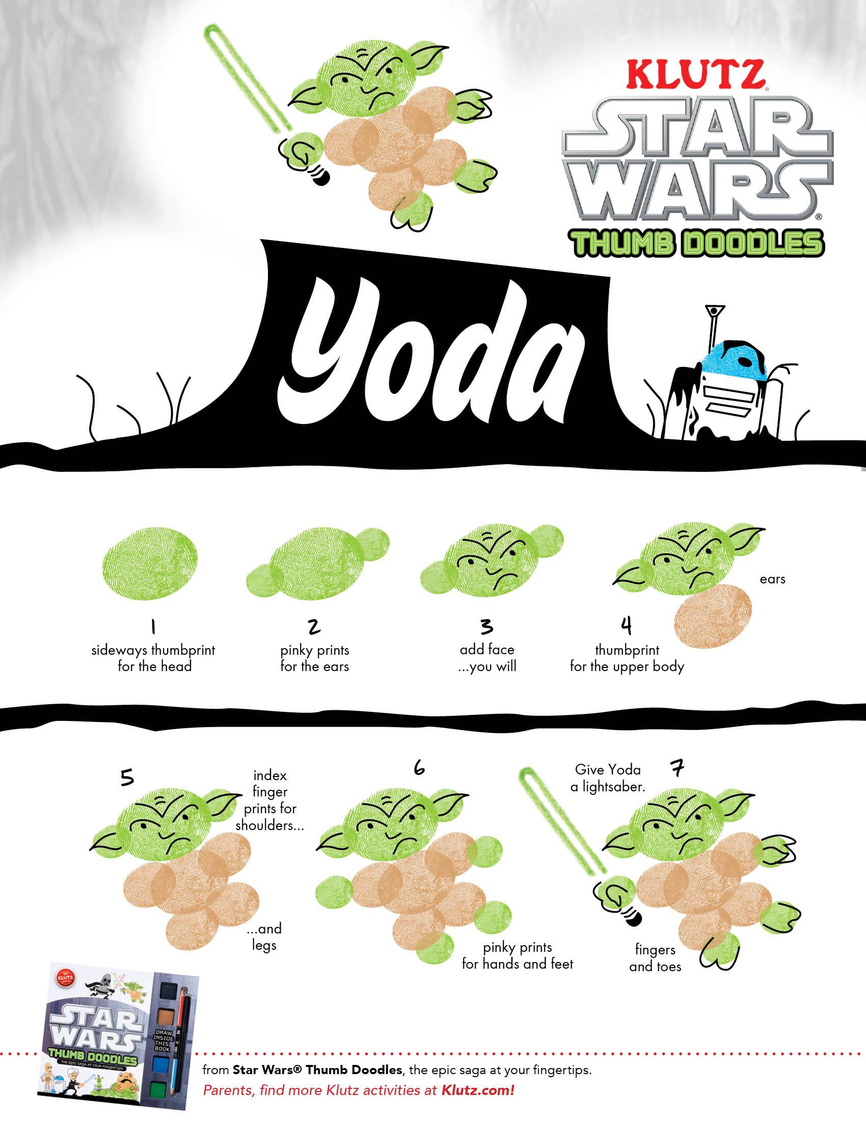 Draw Yoda Star Wars Thumb Doodles