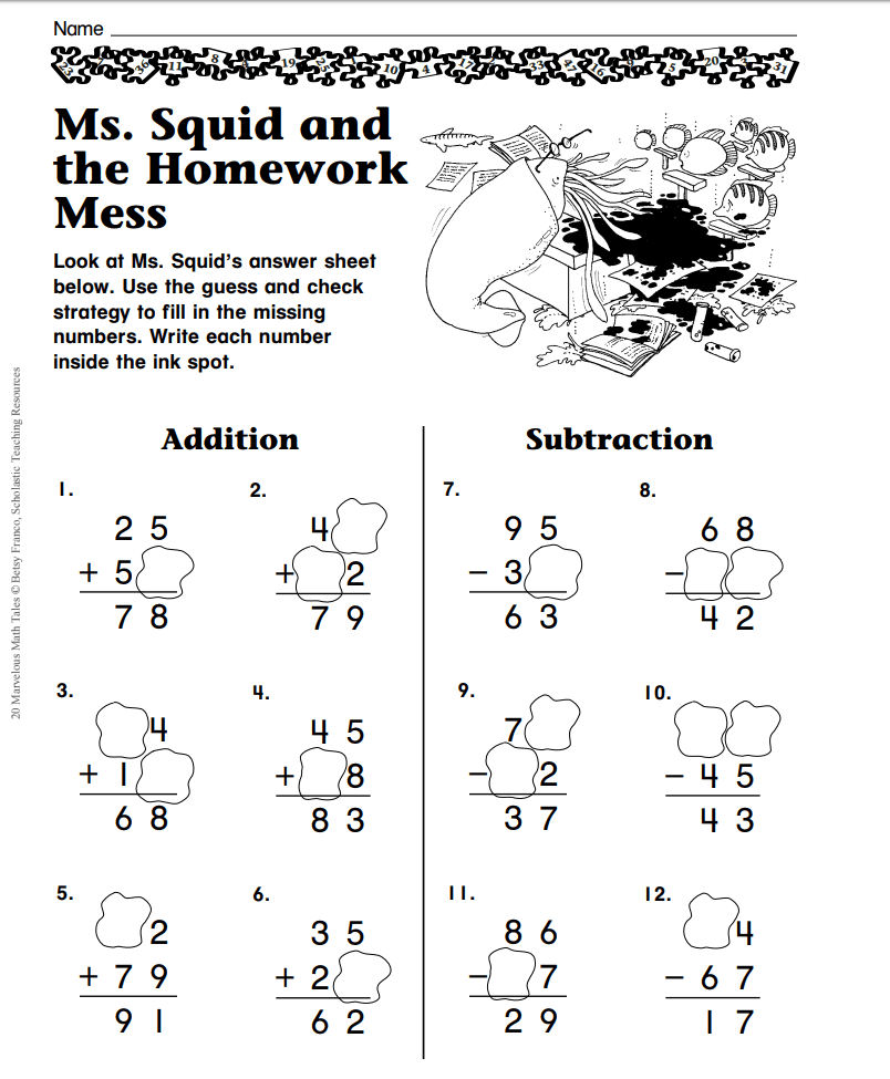 Ms. Squid and the Homework Mess (Guess and Check