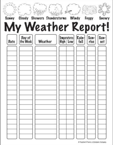 My weather report also worksheet  printables scholastic parents rh