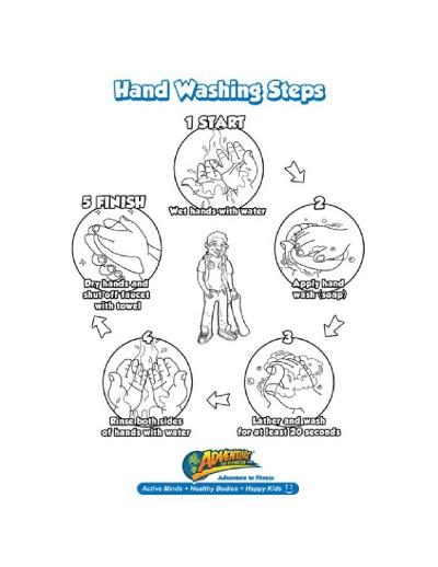 Printable hand washing instructions