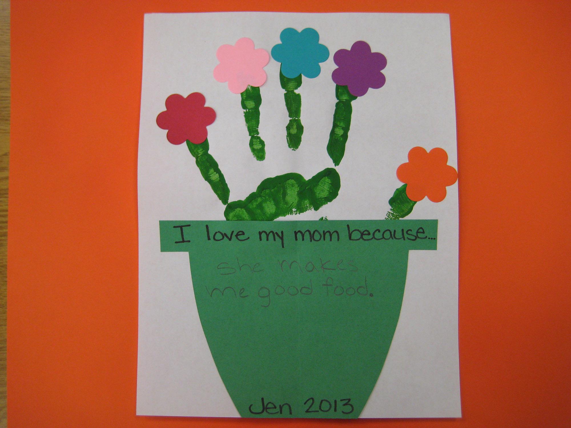 Handprint Flowerpot Craft