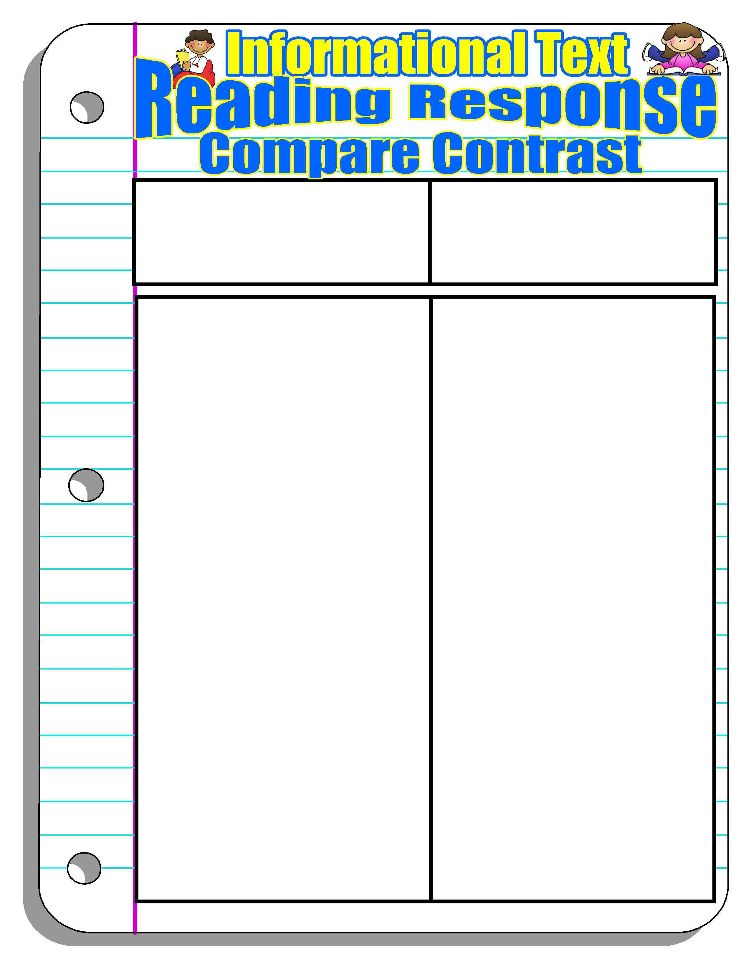 Compare And Contrast Graphic Organizer 2nd Grade