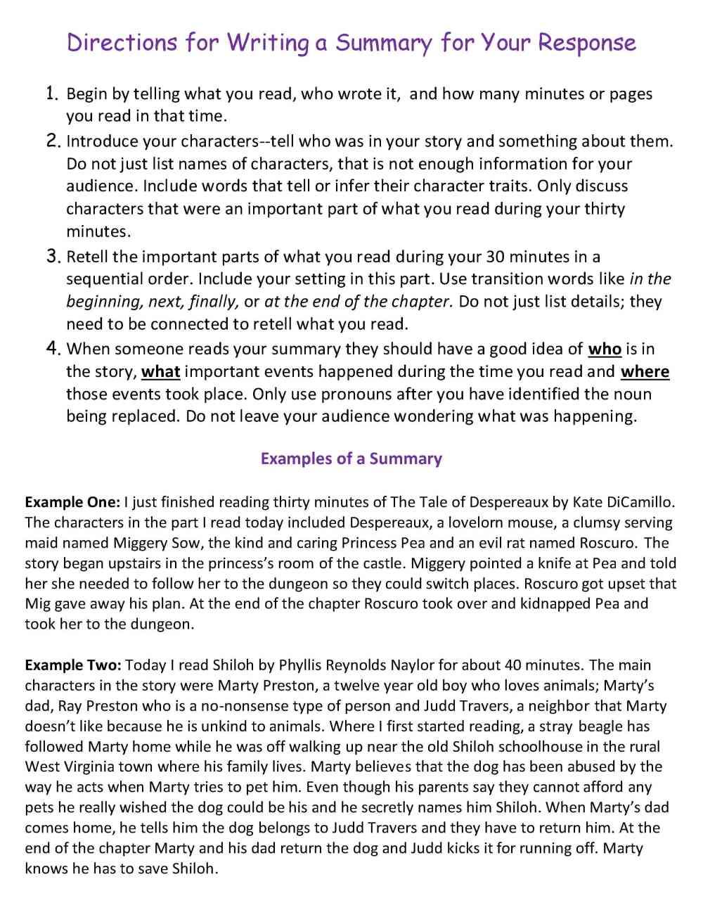 medium resolution of Ten Weeks of Reading Response Homework   Scholastic