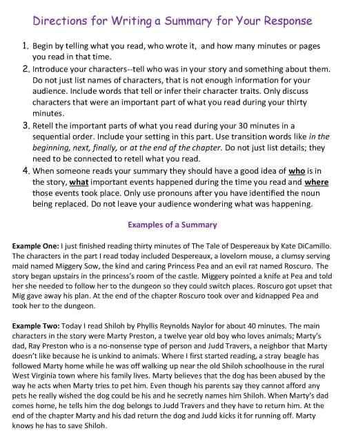 small resolution of Ten Weeks of Reading Response Homework   Scholastic