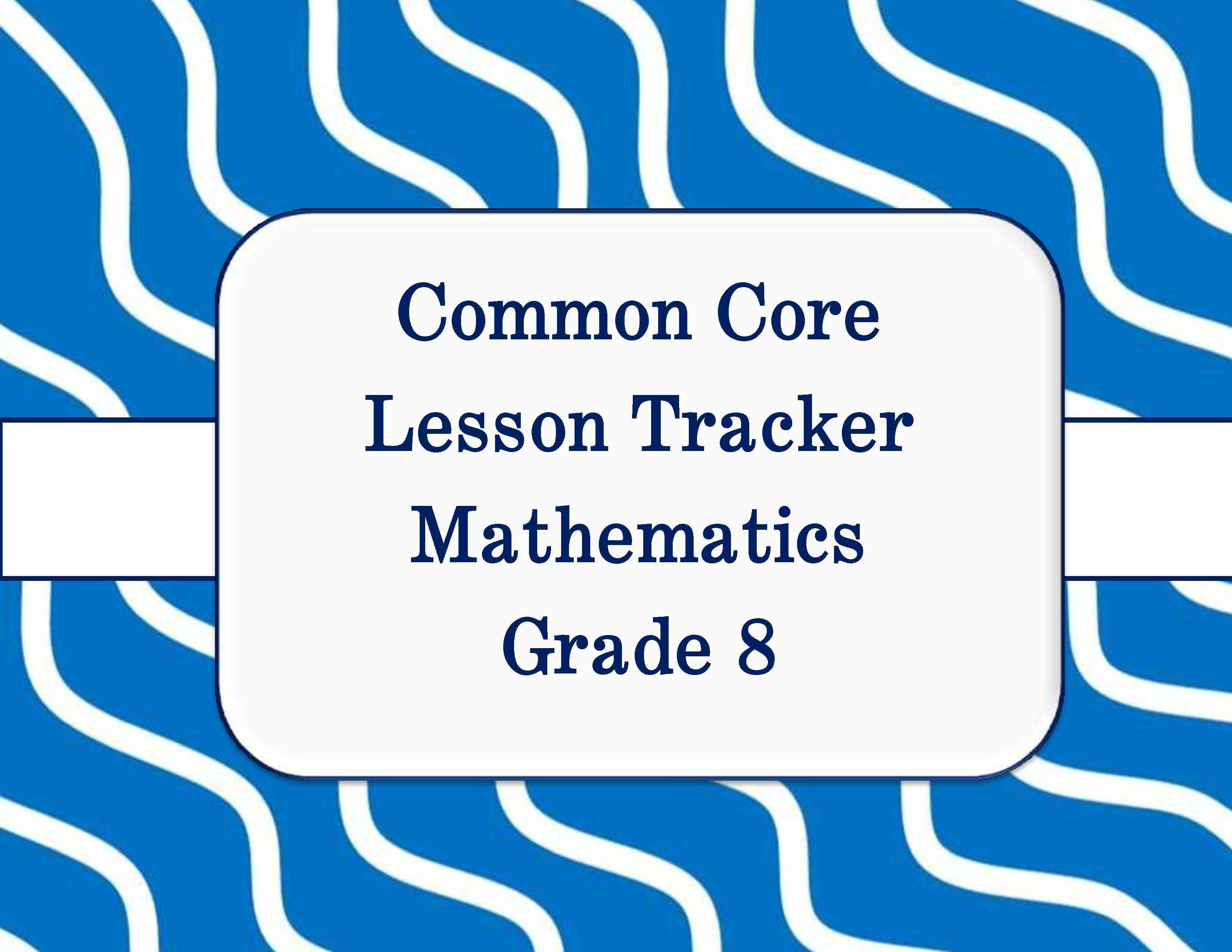 Common Core Math And Ela Lesson Plan Organizers For The