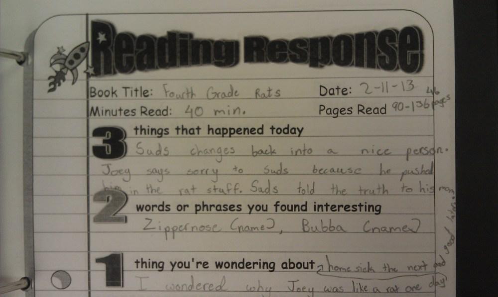 medium resolution of Five Minute Reading Responses   Scholastic