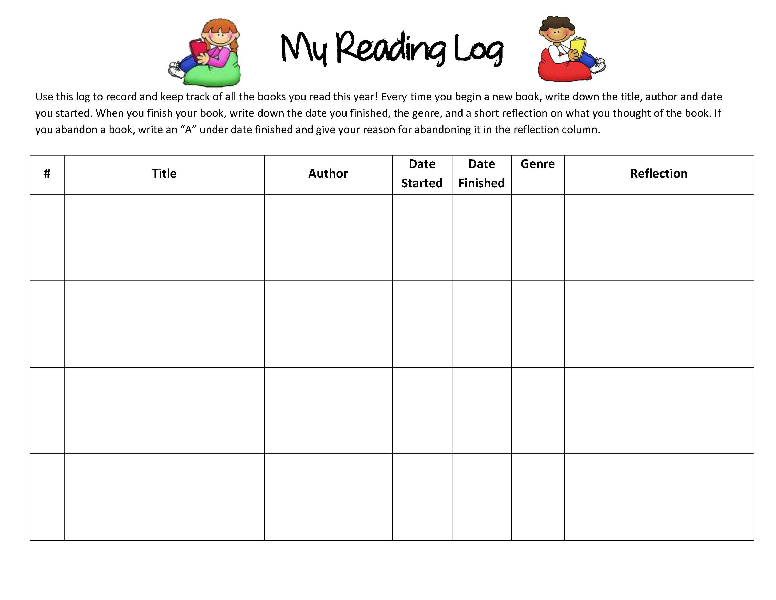 Reading Response Forms And Graphic Organizers