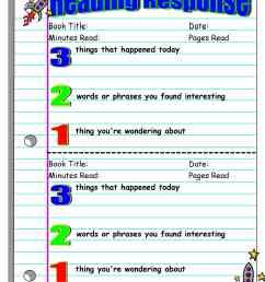 Five Minute Reading Responses   Scholastic [ 3300 x 2550 Pixel ]