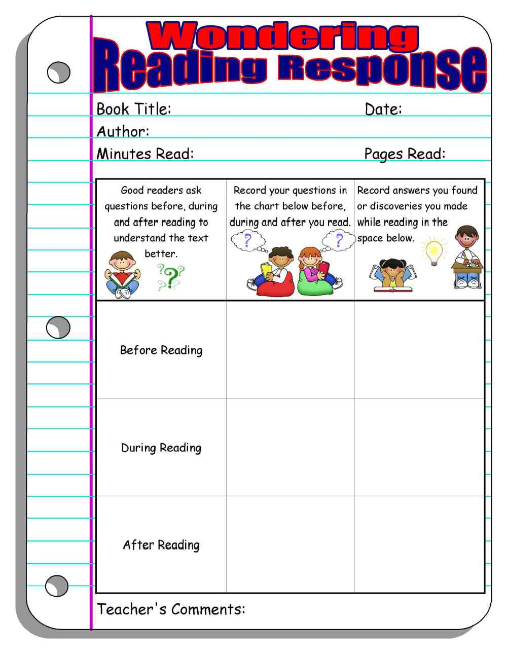 medium resolution of Reading Response Forms and Graphic Organizers   Scholastic