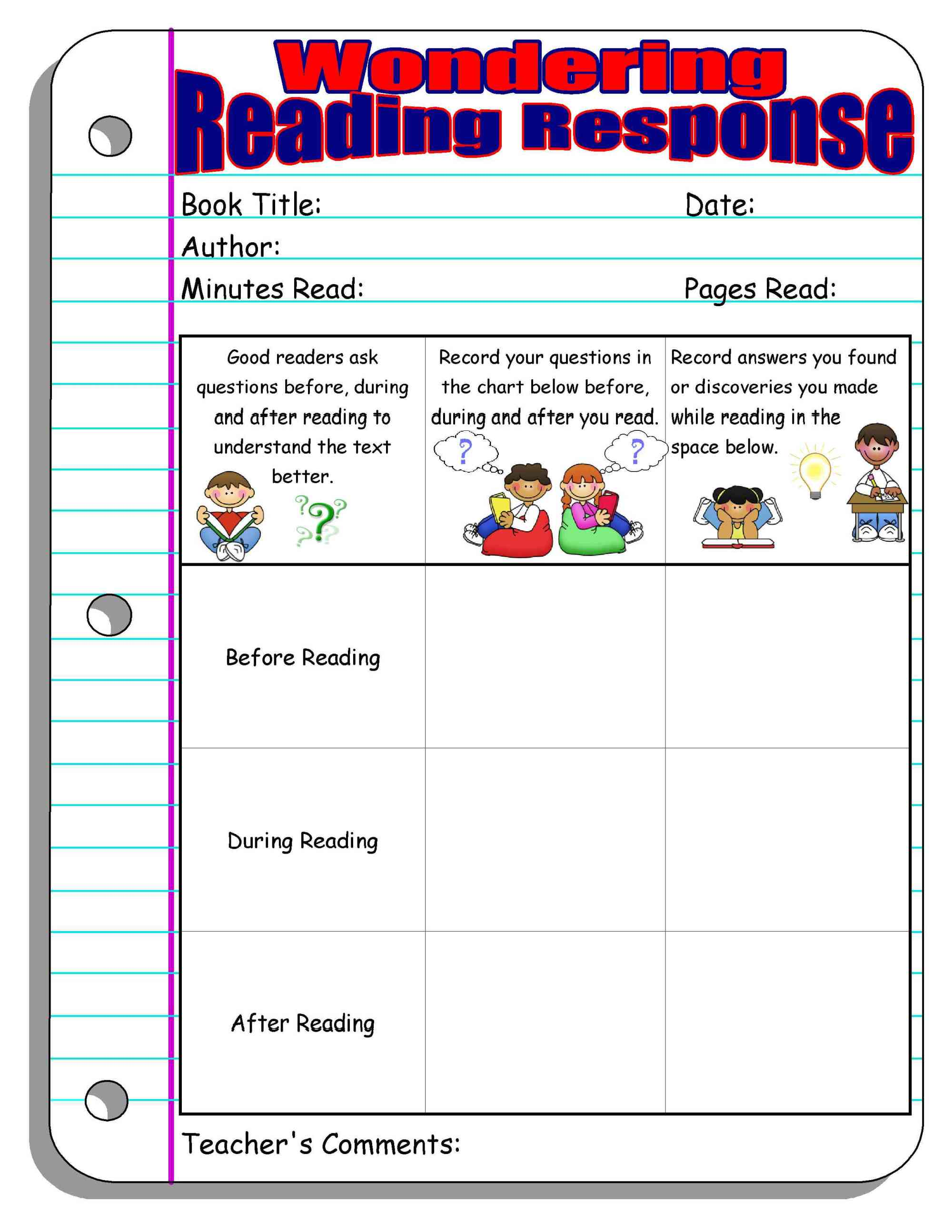hight resolution of Reading Response Forms and Graphic Organizers   Scholastic