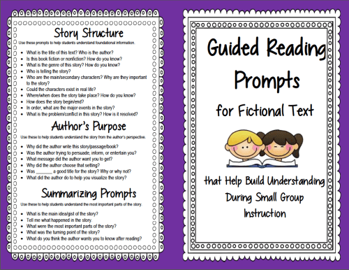 small resolution of Guided Reading Prompts and Questions to Improve Comprehension   Scholastic