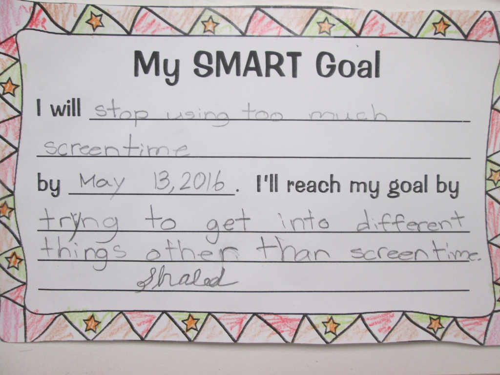 Setting Almost Smart Goals With My Students