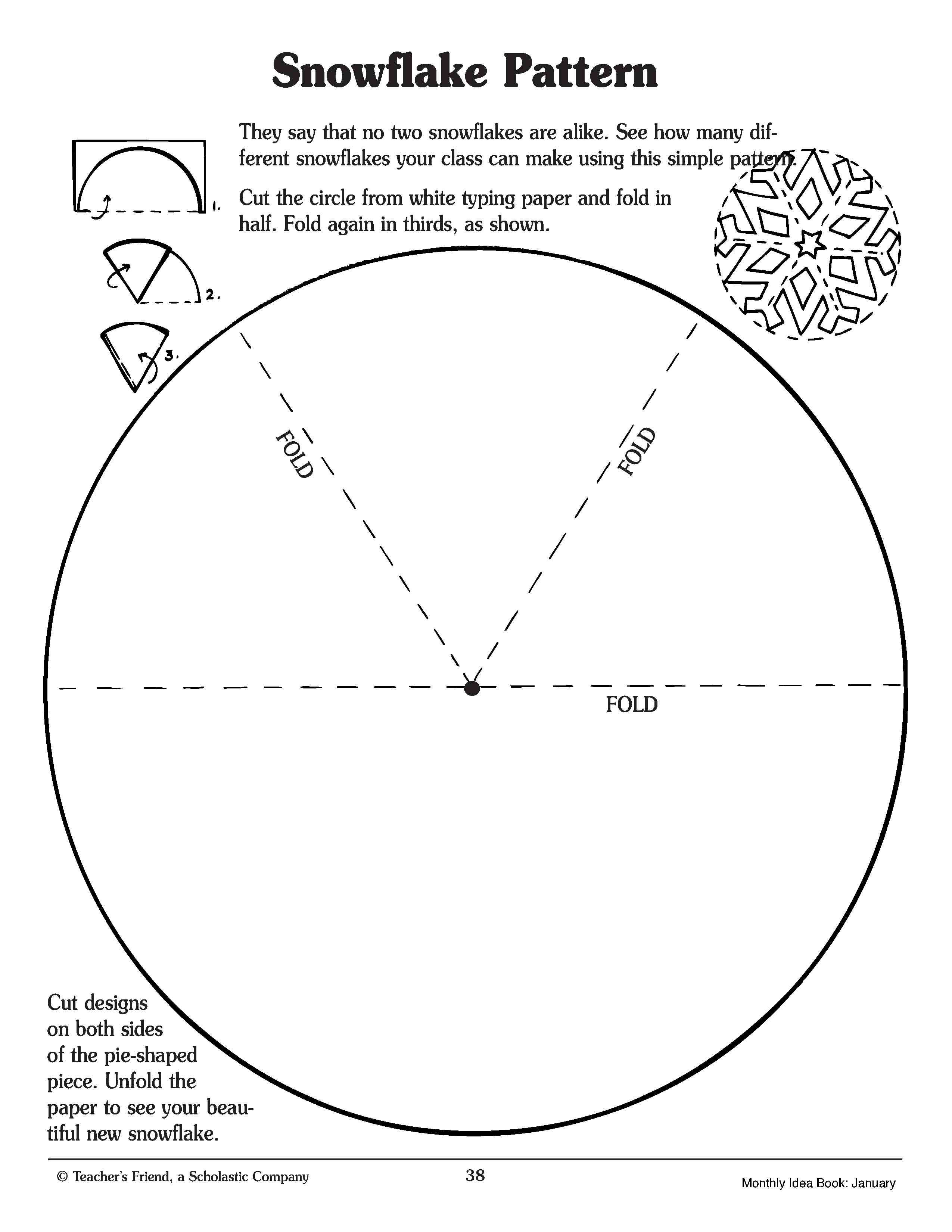Snowflake Free Printable Kindergarten Worksheet