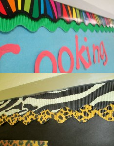 Make your borders jazzy by doubling up on coordinating colors and designs layer corrugated cardboard rolls under  more colorful design also twenty ideas for bulletin board scholastic rh