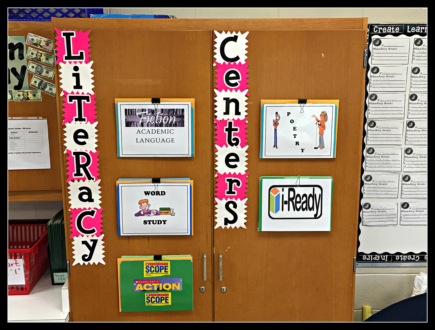 Middle School Literacy Centers
