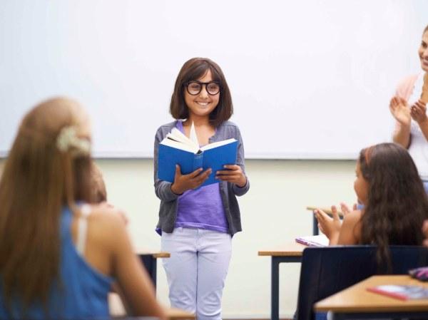 Classroom Teacher Reading Book