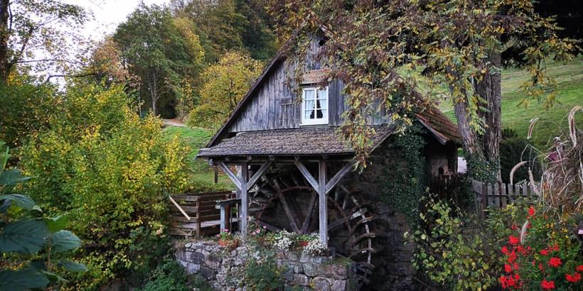 Restaurierte Mühle in Ottenhöfen