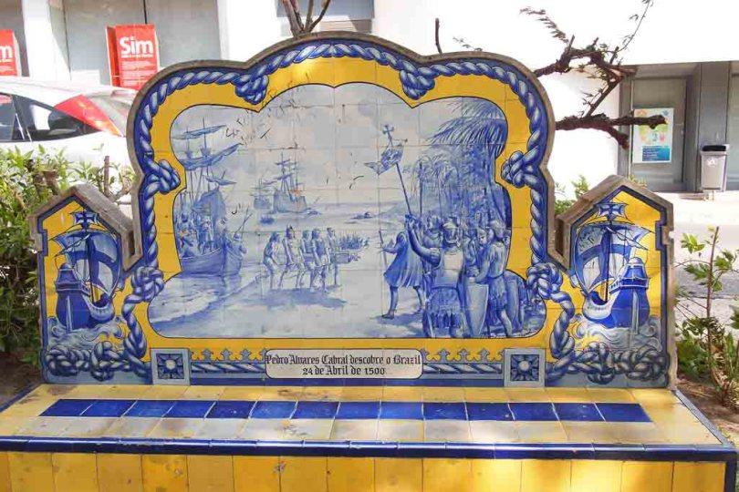 Gekachelte Bank in Portimao - Portugal