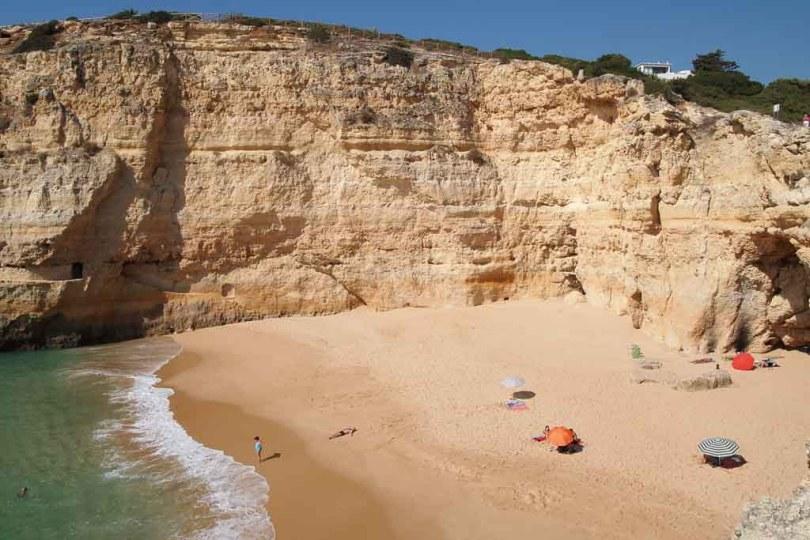 Schmugglerstrand Praia do Carvalho in Portugal an der Algarve