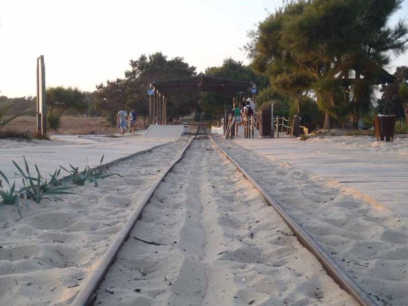 Gleisanlage zum Praia do Baril in Portugal Algarve