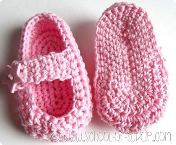 Scuola di Uncinetto come si fanno le scarpine per neonati