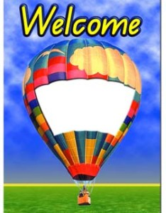 Young ideas  welcome chart balloon also posters  borders school rh schoolandoffice