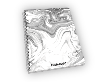 Marble large standard cardstock cover