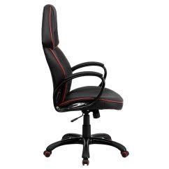 Red High Back Chair Revolving Autocad Block Black Vinyl Ch Cx0248h01 Ven Gg